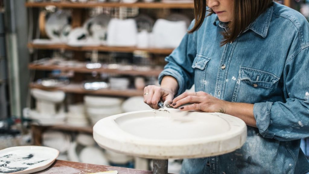 Splitting time between ceramics and bar work in Marrickville soon saw Dent turn all her attention to her craft. Photo: Alana Dimou