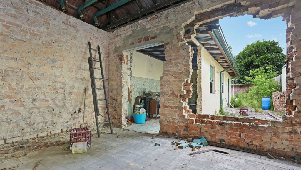 This Leichhardt property sold for $1.375m halfway through a renovation. Photo: Domain
