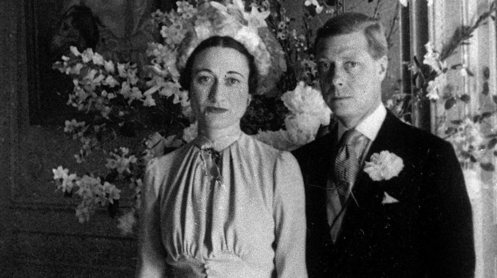 The Duke and Duchess of Windsor pose after their 1937 wedding at the Chateau de Cande, in France, the year after his abdication. Photo: FILE