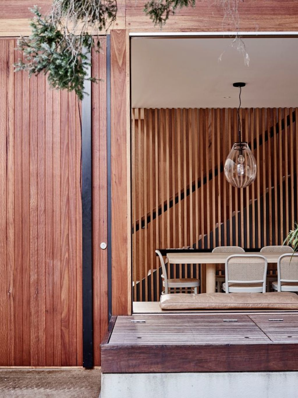 Deakin says a well-designed outdoor area can count as much as an additional living or interior entertaining space. Photo: Mark Roper. Architecture: Ben Pitman. Styling: Simone Haag