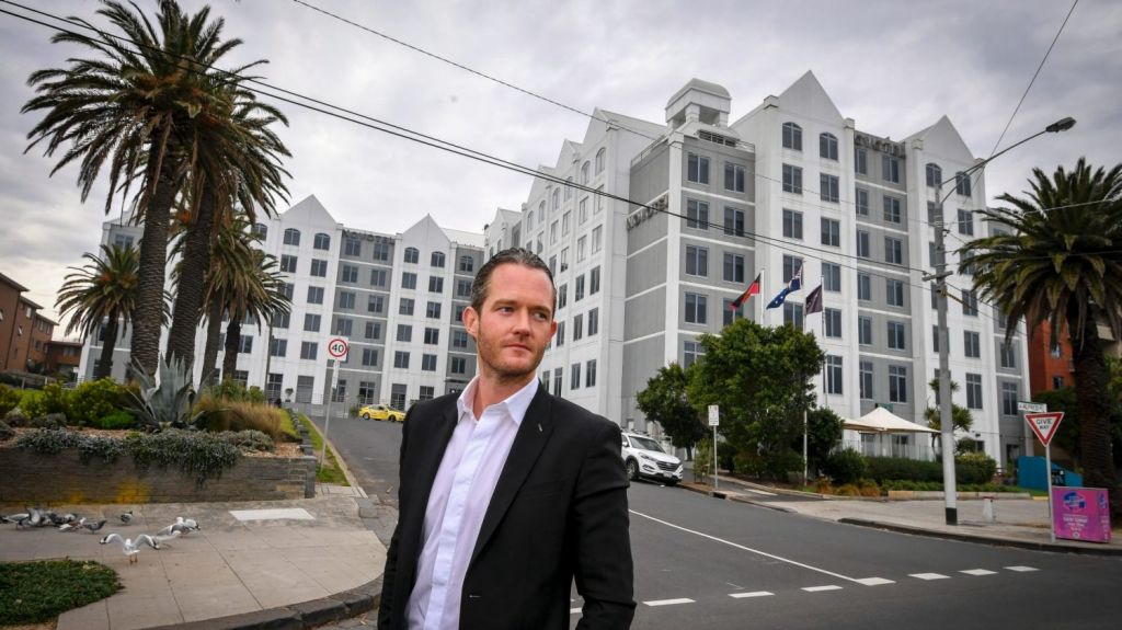 Tim Gurner will redevelop the St Kilda site currently occupied by the Novotel. Photo: Eddie Jim
