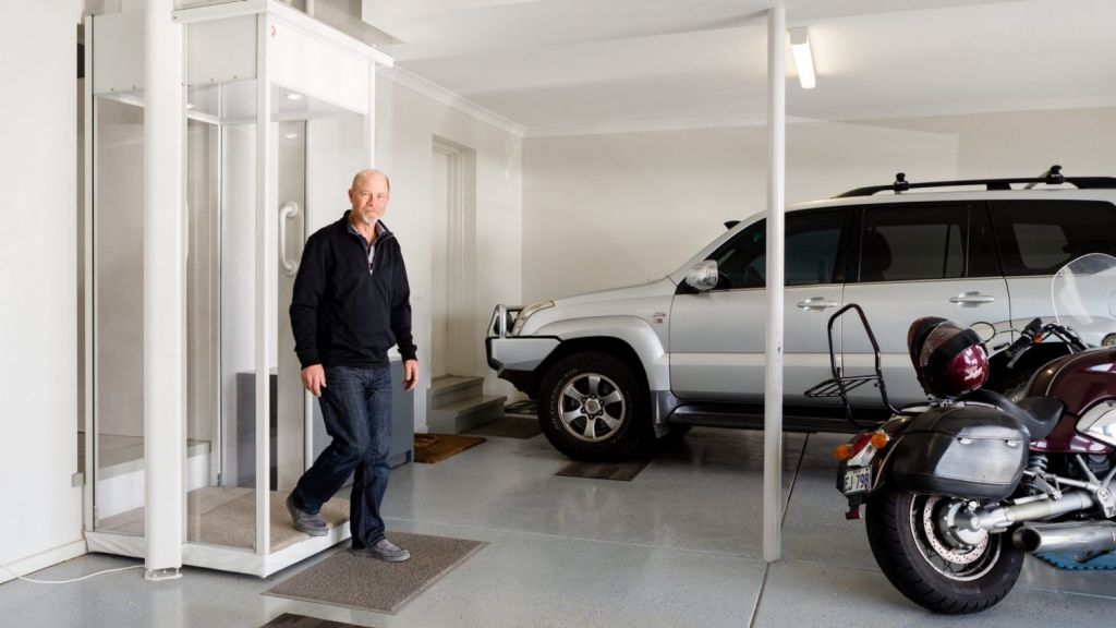 Denis Cumming recently installed a lift in his home, one of a growing number of people adding them to residential properties. Photo: Greg Briggs