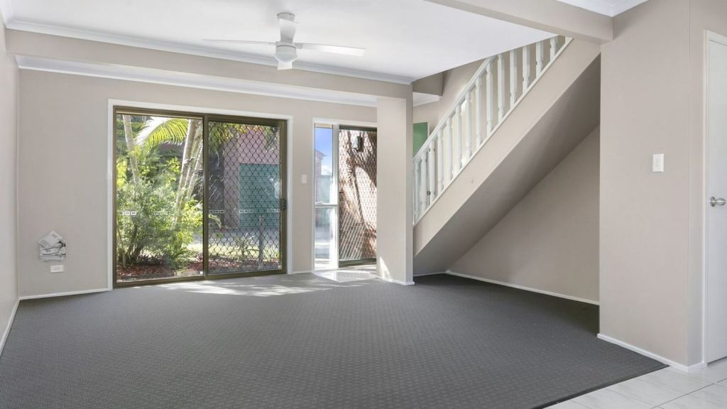 This two-bedroom townhouse at 6/360 Redbank Plains Road, Bellbird Park, is for sale for $199,000 and yields seven per cent, its agent says. Photo: Ray White Redbank Plains