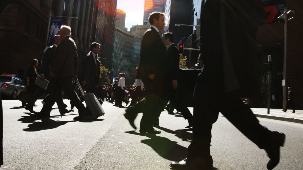 In the CBD, almost 90 per cent of trips are done on foot. Photo: Peter Braig