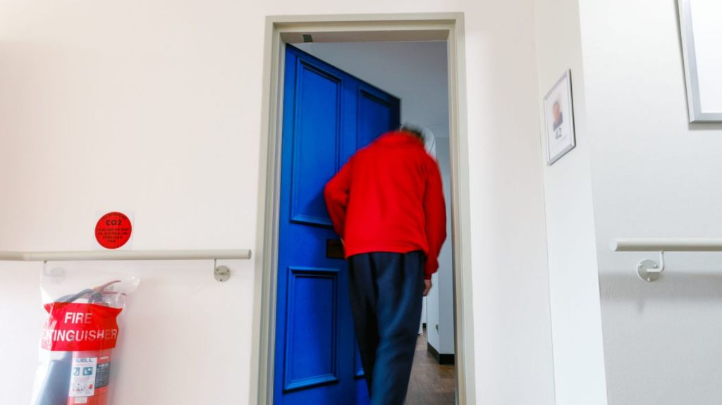 The aged-care home has reported a dramatic change in resident behaviour since the doors were installed. Photo: Steven Woodburn