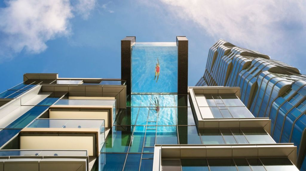 The apartment complex Anaha in Ohau will feature a sky pool protruding the building by four-and-a-half metres. Photo: Nic Lehoux