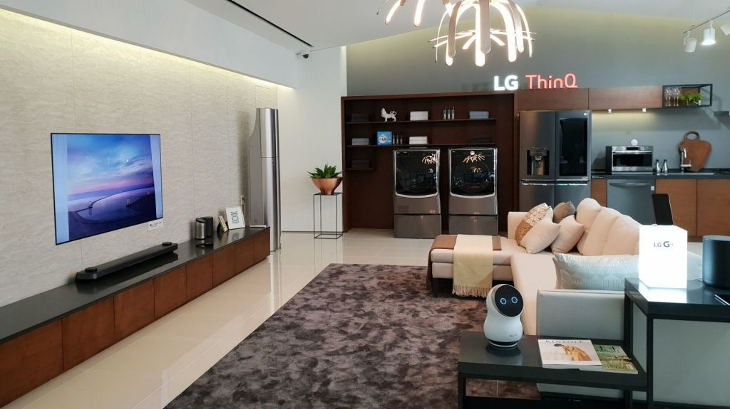 For LG, the next step in smart homes is all about artificial intelligence. Photo: LG