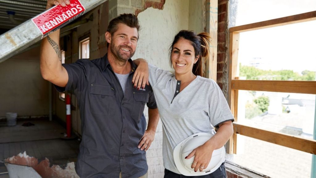 Hayden and Sara failed to wow the judges with the styling-to-sell challenge. Photo: Channel Nine