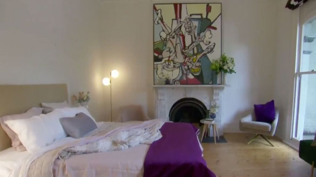Jess and Norm's commitment to filling their room with flowers and soft touches was a clever way to make the house feel more like a home. Photo: Channel Nine