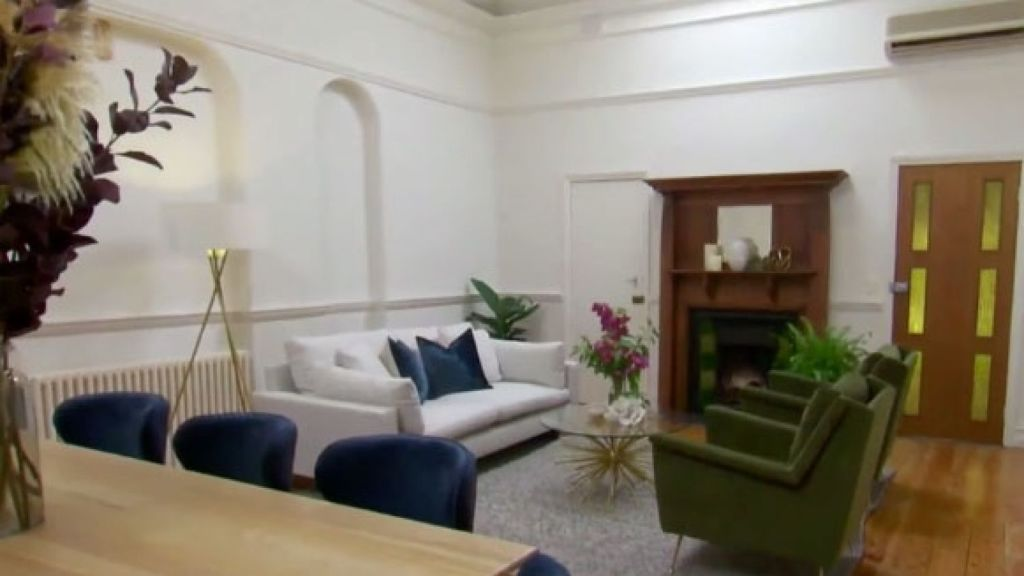 Courtney and Hans' strength came in finding an appropriate style for a period home. Photo: Channel Nine