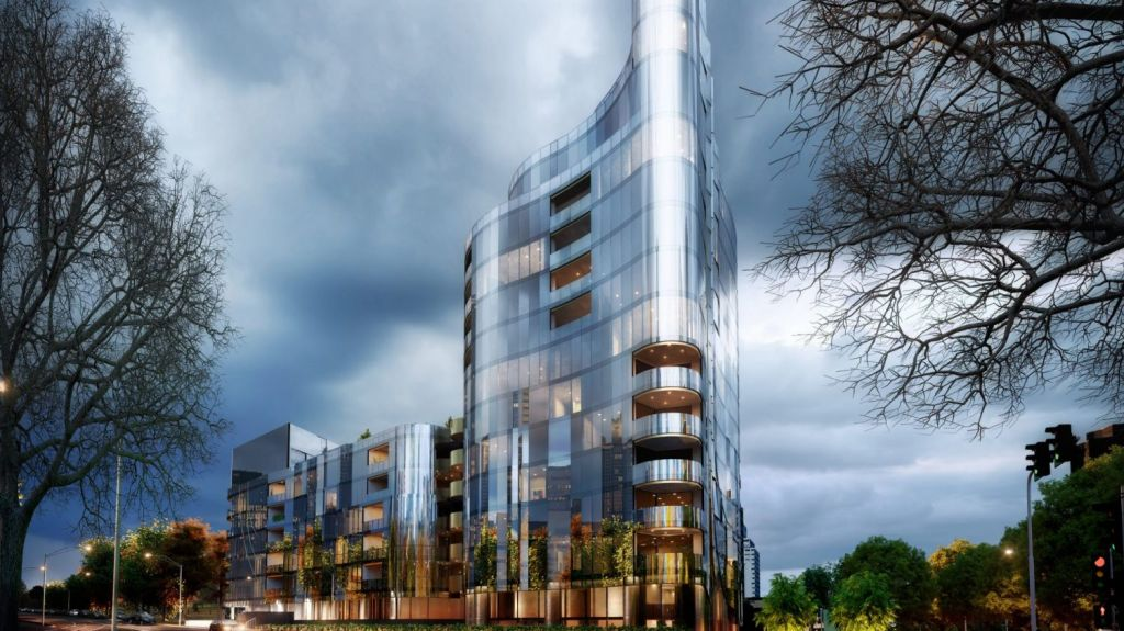Bruce Henderson Architects designed the 14-level luxury residential tower that Peter and Kane Devitt will develop. Photo: Bruce Henderson Architects