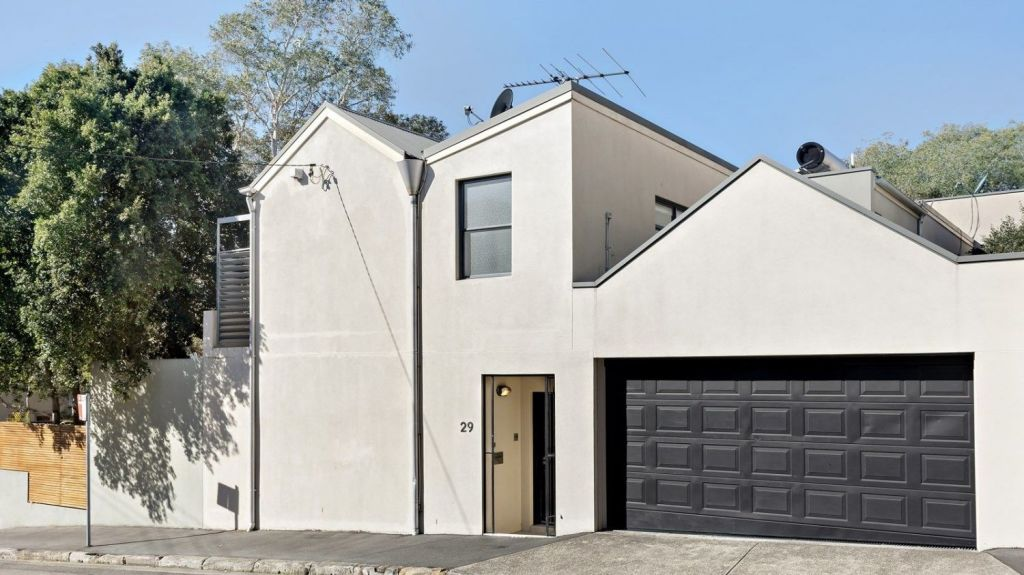 A contemporary three-bedroom house at 29 College Street, Balmain, sold for $2.455 million prior to auction.