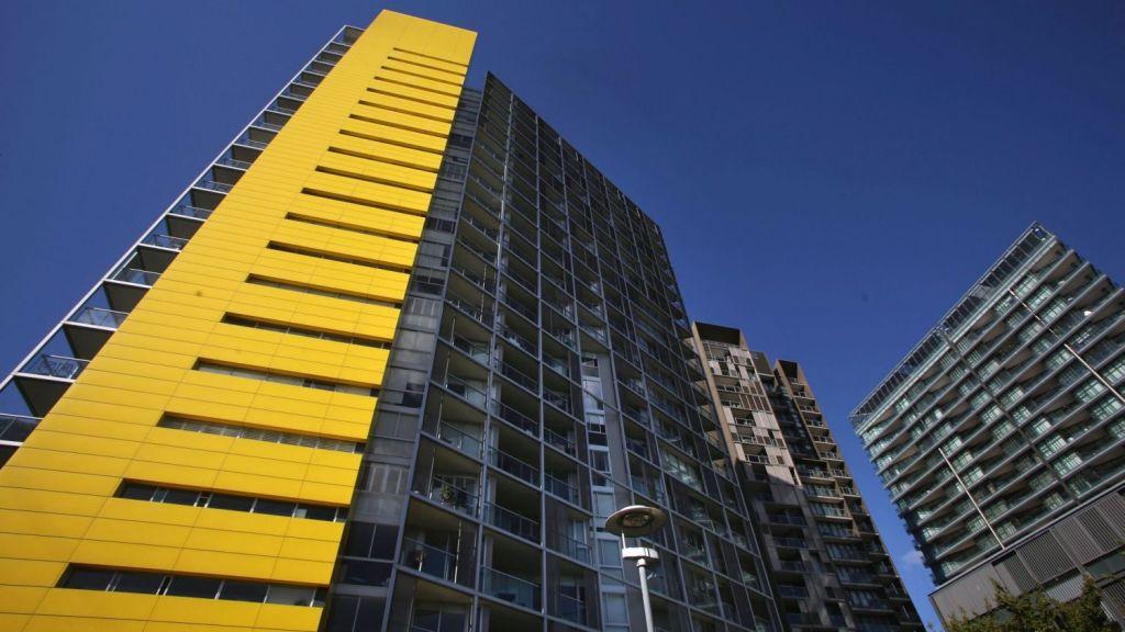 The apartment block built in Pyrmont. Photo: James Alcock