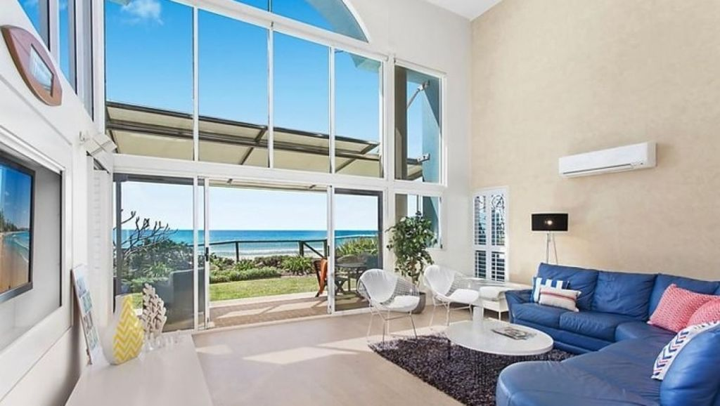 The $2.3 million beachfront weekender owned by Peter Dutton and his wife Kirilly at Jefferson Lane, Palm Beach.