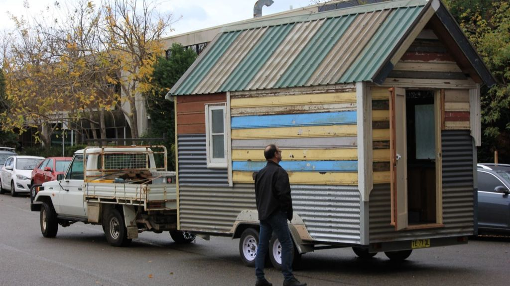 The tiny homes can be towed, and will be auctioned off in November to raise money for the not for profit organisation. Photo: The Bower