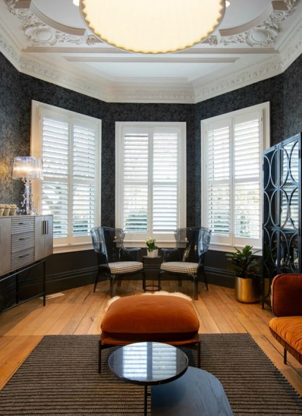 Shutters also make a room look bigger. Photo: Tessa Chrisp