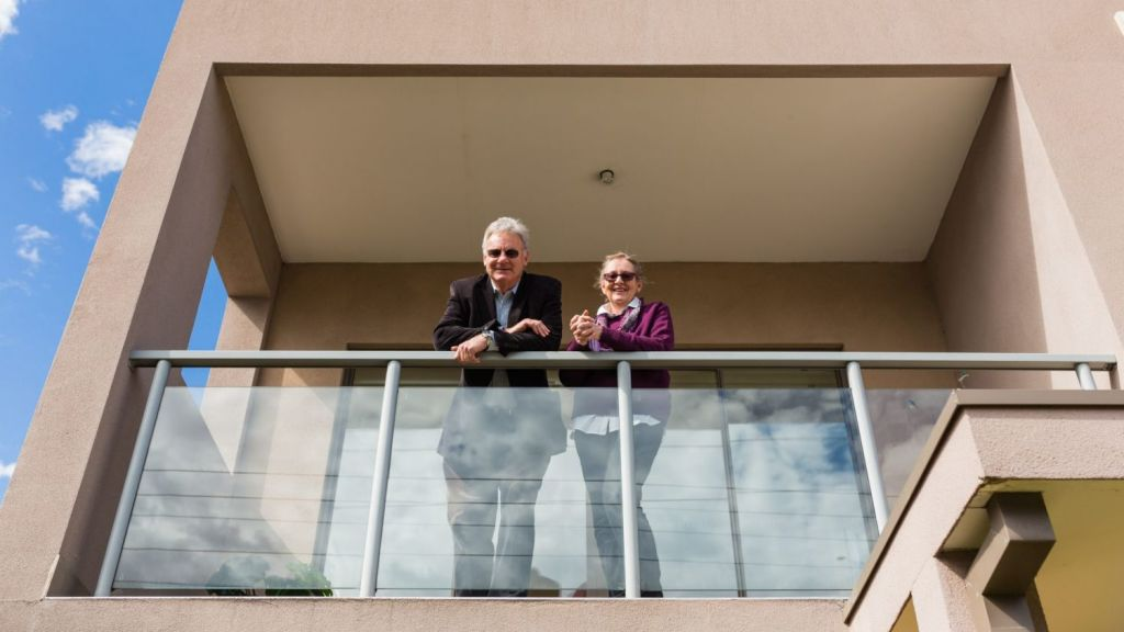Ian and Kate McIntosh are selling their property in Murrumbeena near the new elevated train station. Photo: Greg Briggs