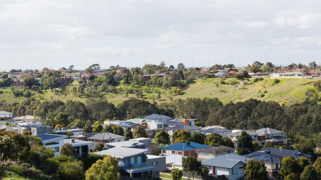 River Valley Estate in Sunshine North has some of the steepest blocks in Melbourne. Photo: Greg Briggs