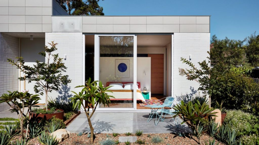 The floorplan is cleverly organised to maximise northern light and make the most of an ordinary suburban block. Photo: Luc Remond