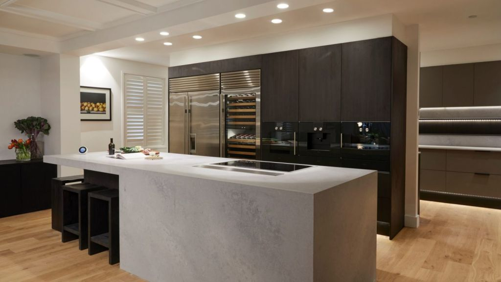 Kerrie and Spence's winning room had all the appliances you could expect from a luxury kitchen. Photo: Channel Nine