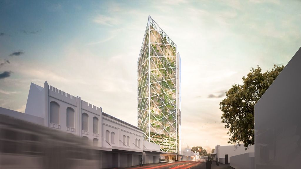 The 20-storey office and apartment tower proposed by SMA Projects. Photo: SMA Projects