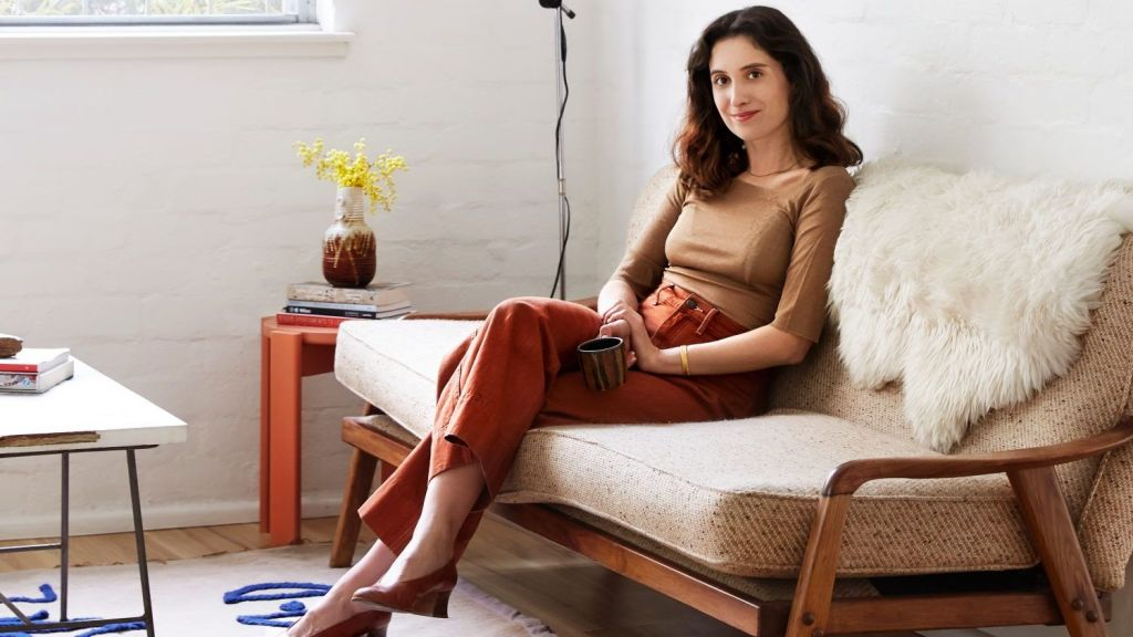 Art director Annie Portelli in her North Melbourne home. Photo: Caitlin Mills