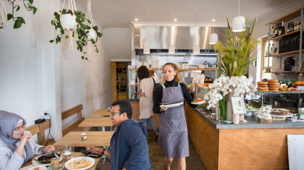 Check out the salad cabinet at Babajan cafe. Photo: Simon Schluter