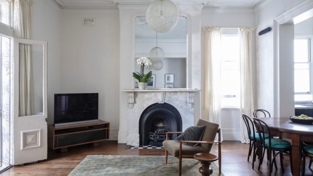 The residence is on the north corner of a 1890 Victorian manor converted into apartments. Photo: Jason Busch