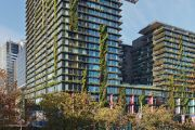 The deep green apartment block that scooped a top awards night