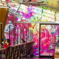 Stained glass windows like you've never seen: How an artist transformed an East Melbourne cafe
