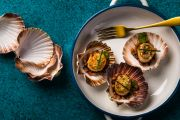 Recipe: Diana Chan's scallops, speck with lemon & parsley pangrattato