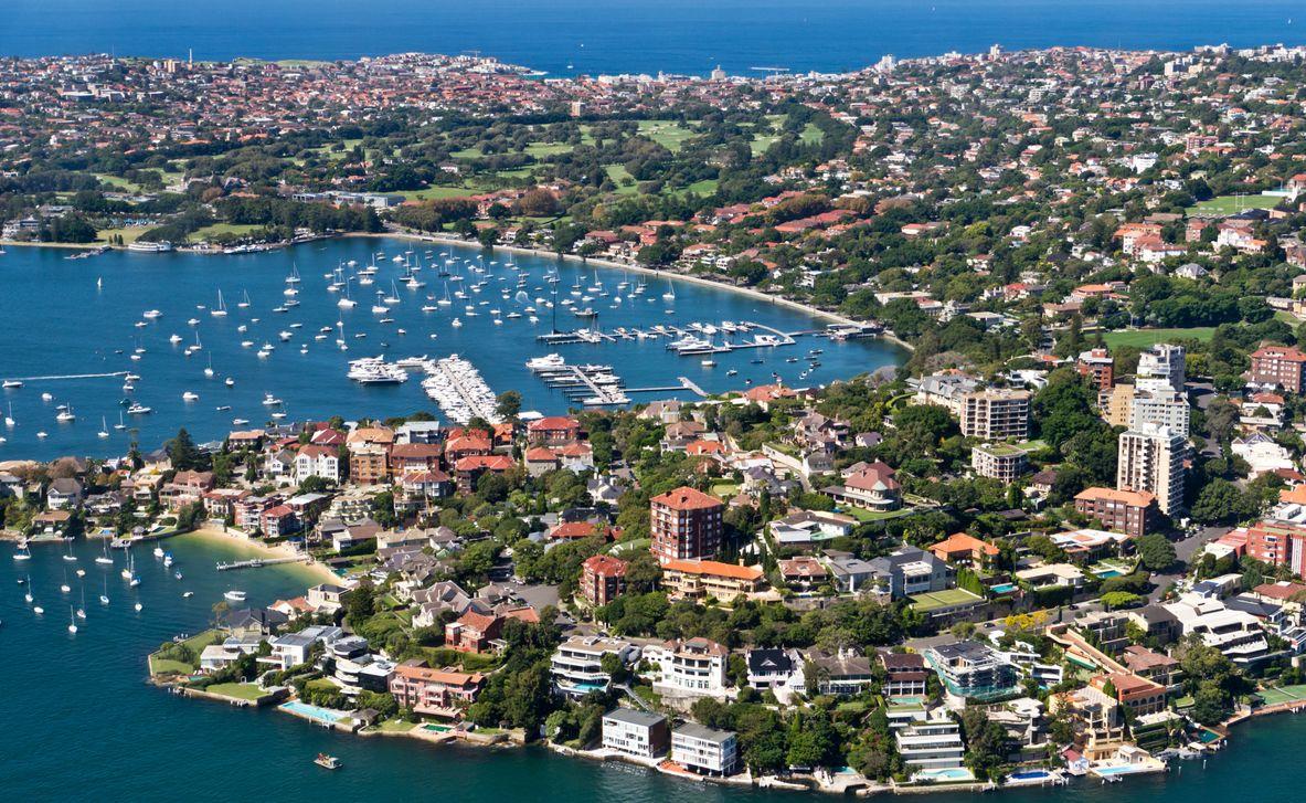 Rose bay, Sydney taken from a Sea Plane