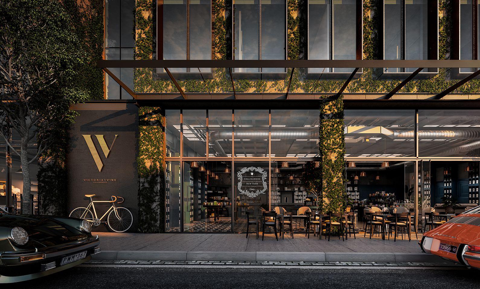 Victoria & Vine   1-57 Wellington Street, Collingwood  Architect: Cox Architecture   Developer: GURNER™                                                                                                 Interior design: David Hicks