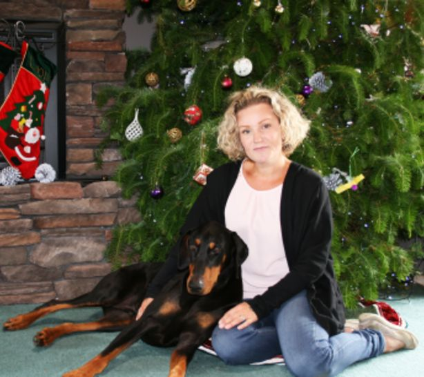 Nadia Crighton and her doberman Hudson.