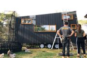 'We thought, why not?' The young couple building their own tiny house