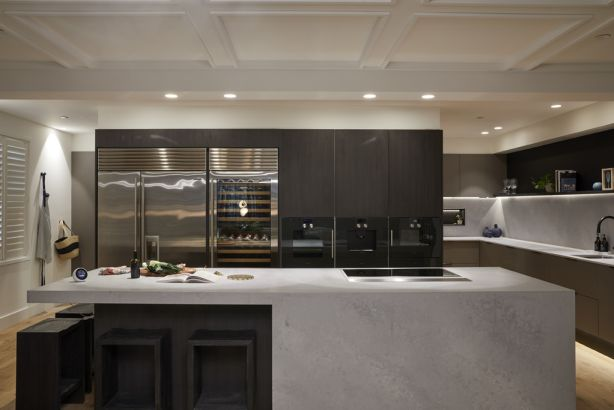 Kerrie and Spence received a perfect score for their kitchen. Photo: Channel Nine