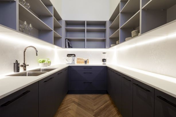 The judges liked the colour palette and storage availability in the butler's pantry. Photo: Channel Nine