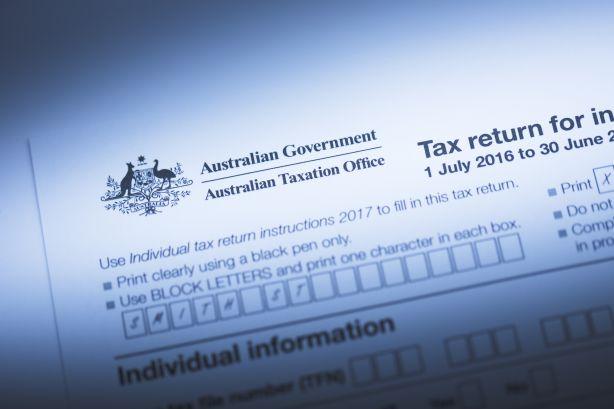Australian tax return form