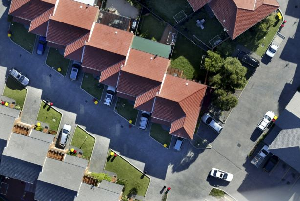 Aerial photography of suburban homes in Sydne