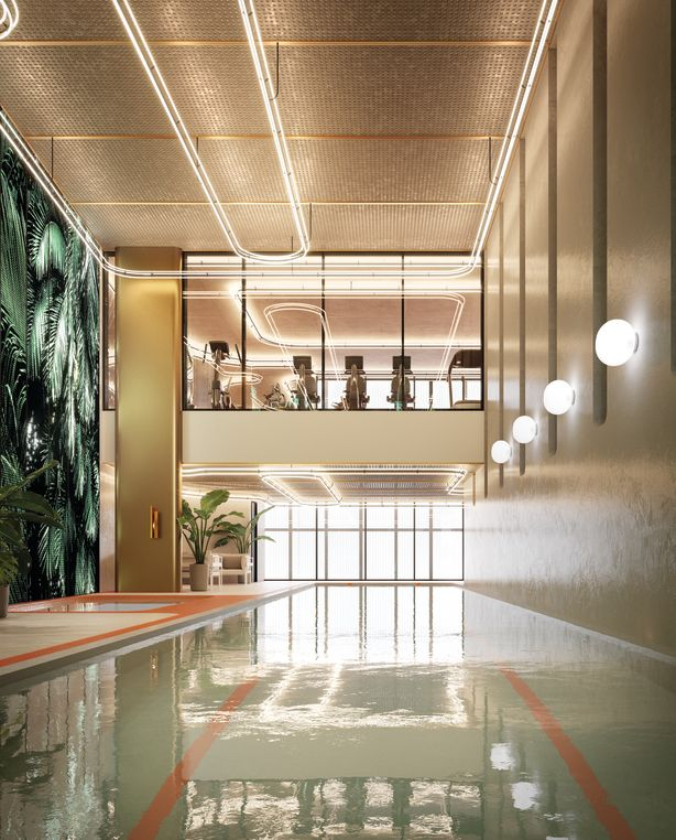 The indoor pool at One Wellington. Image: One Wellington