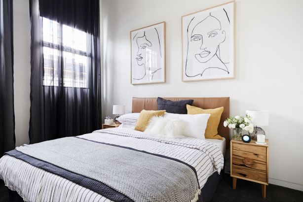 Bianca and Carla's second guest bedroom room reveal on The Block 2018
