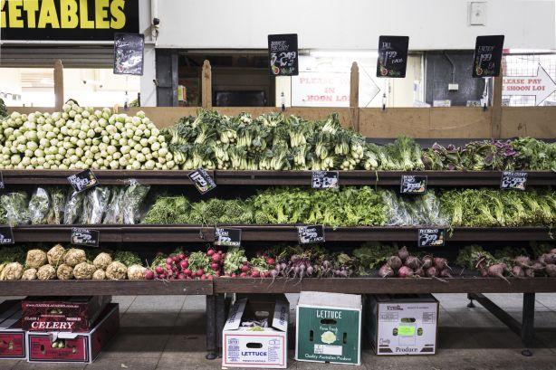 Fresh food at the Footscray Market. Photo: Bec Dickinson.