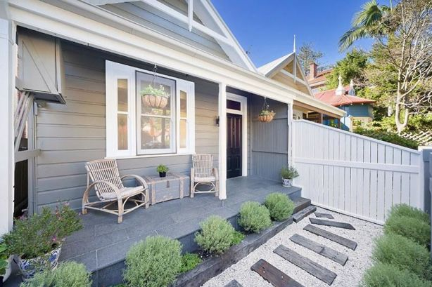 Styled front porch