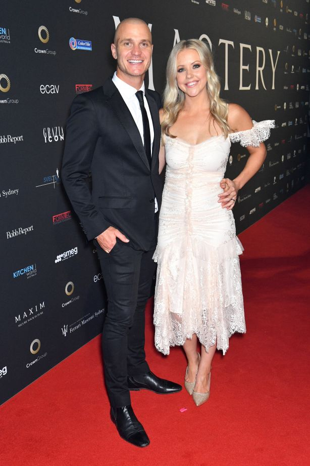 Kyal Demmrich and Kara Demmrich at a Sydney event celebrating Mastery by Crown Group NOT FOR REUSE