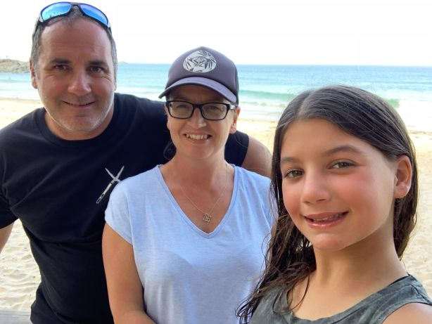 Lee, Angela and Evie Cassel are enjoying their Port Macquarie life.