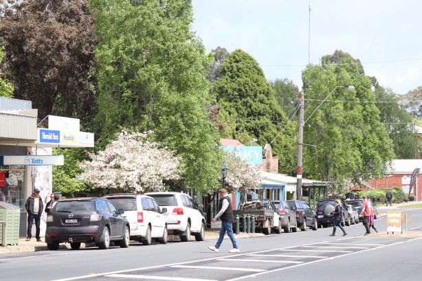 Towns located within 45 minutes' drive of larger centres are gentrifying and growing. Mirboo North in Gippsland
