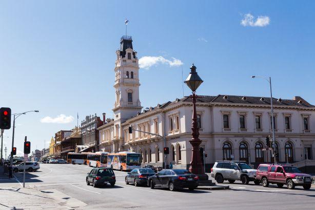 The town of Ballarat in Victoria