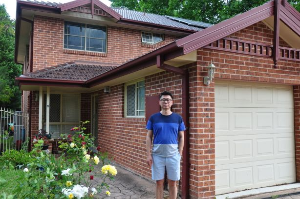 Jian 'Jay' Chen pictured outside his Roseville home.