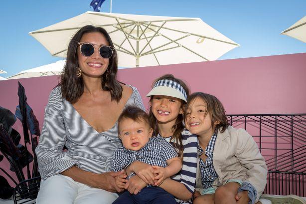 Natalie Decorte with her children. Photo: Joe McInally