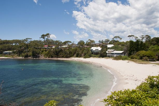 A residential strip in Mollymook NSW